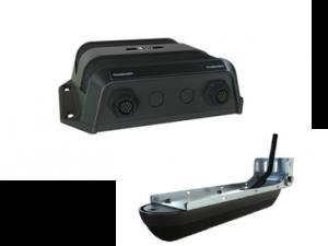 Modulo StructureScan 3D e transdutor para instalação no espelho de popa.
